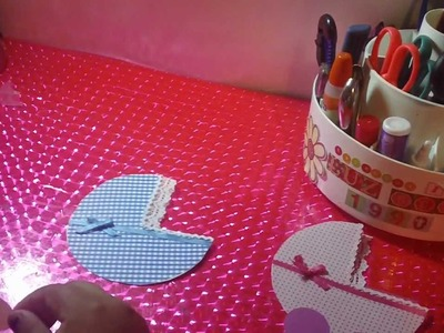 "TARJETA.INVITACION para BABY SHOWER""carriola"" SCRAPBOOK y ORIGINAL"