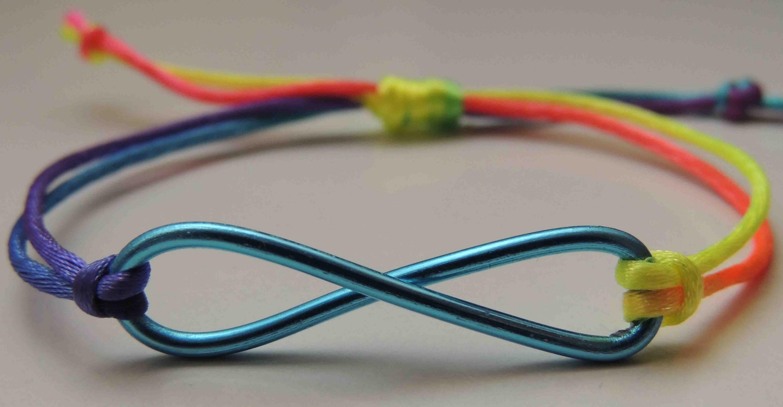 Tutorial DIY Pulsera con simbolo infinito. Bracelet symbol infinity.