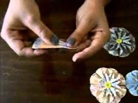 Tutorial flor de dalia en papel (scrapbook)