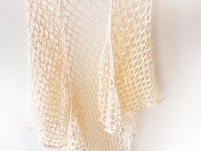 Tutorial Punto Jazmín paso a paso (crochet) y aprende a hacer un chal