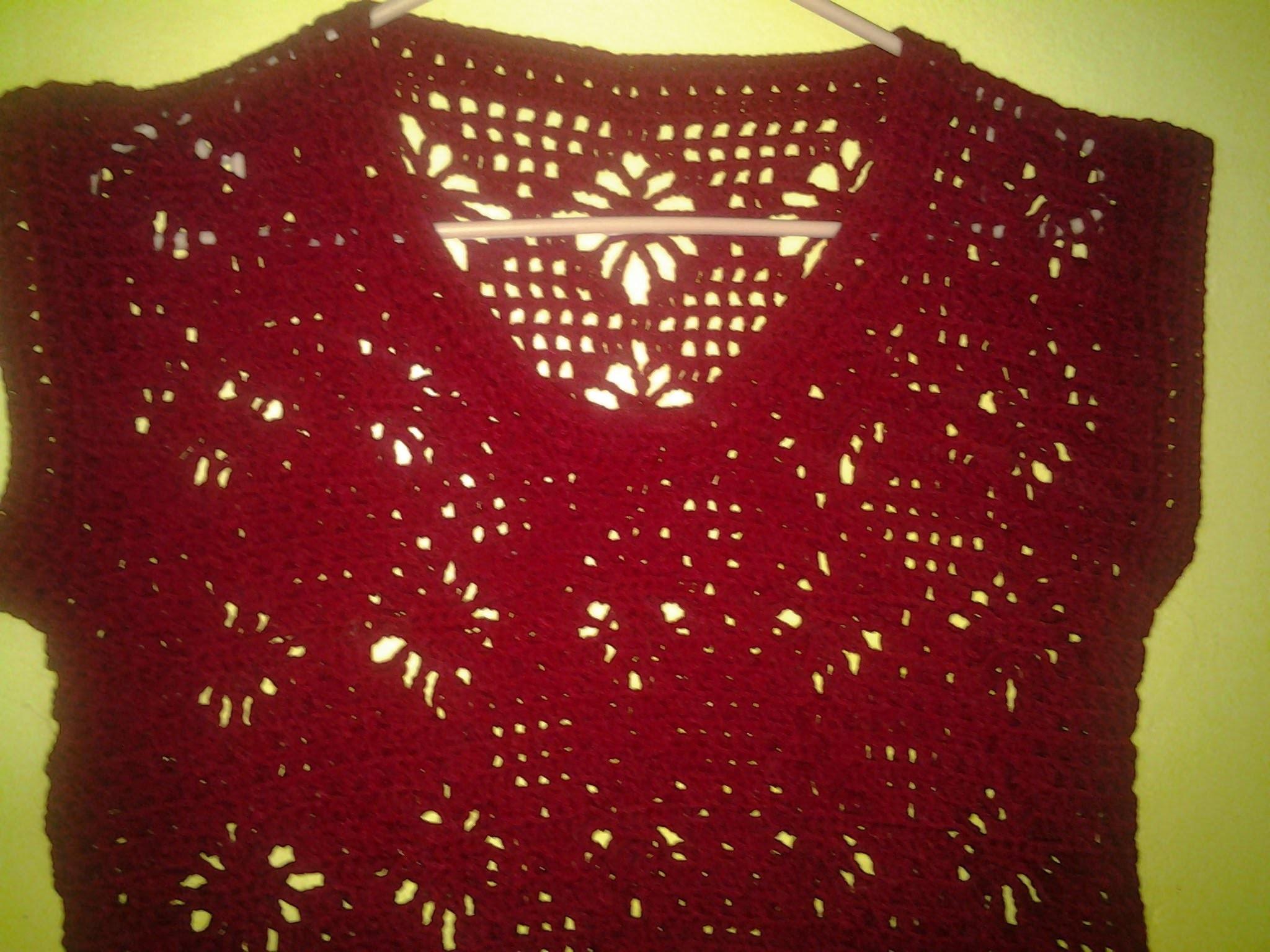 Blusa araña 2a.parte. ( crochet )