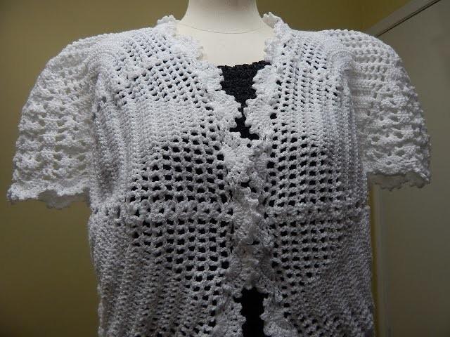 Bolero Blanco Crochet parte 2 de 3
