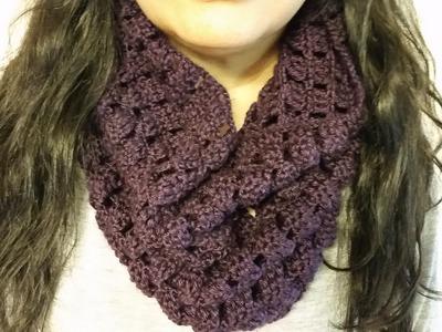 Bufanda en crochet circular de cuello alto