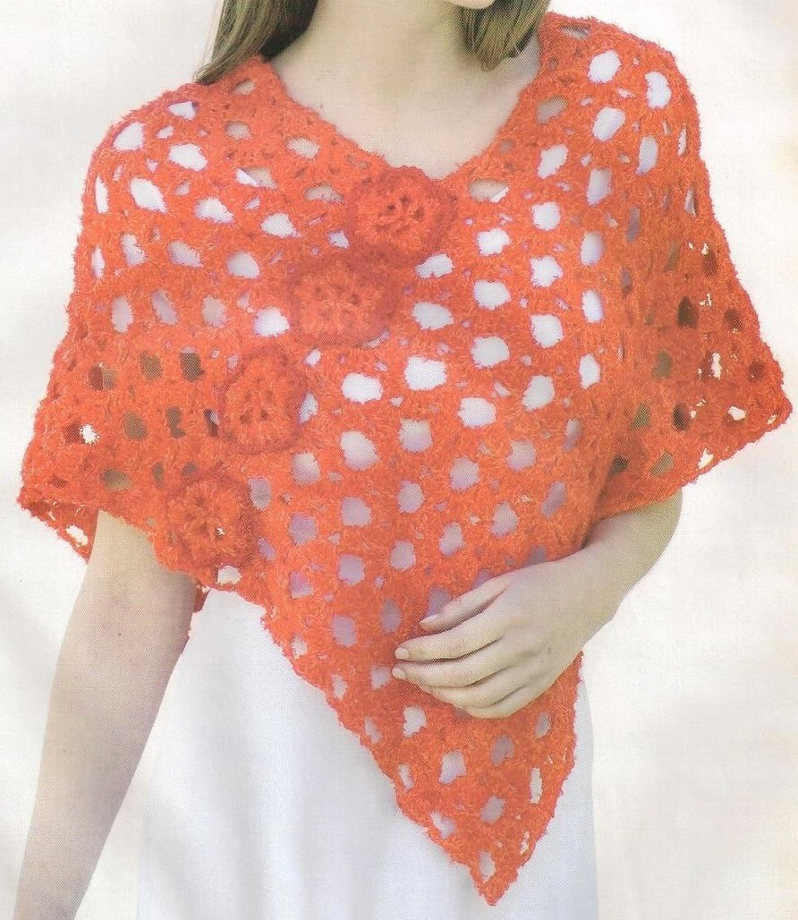 Capa Coral Calada Tejido Fácil a Crochet