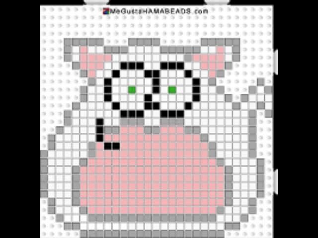 Cat pou (gato) hama beads #4