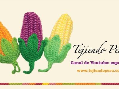 Choclo o maíz agarrador de ollas en dos agujas y crochet (Parte 2: hojas)