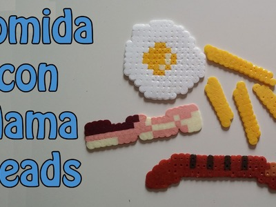 Comida con Hama Beads