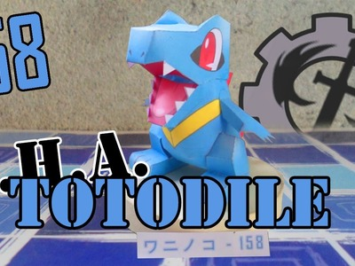 Como hacer a.  Totodile papercraft