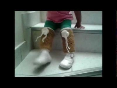 Como hacer calentadoras para piernas en crochet