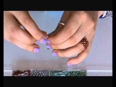 Como hacer un anillo con mostacillas o bolitas (ring beads)