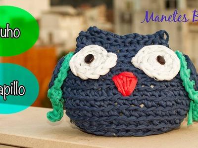 Cómo hacer un búho de trapillo | Tutorial DIY Crochet XXL