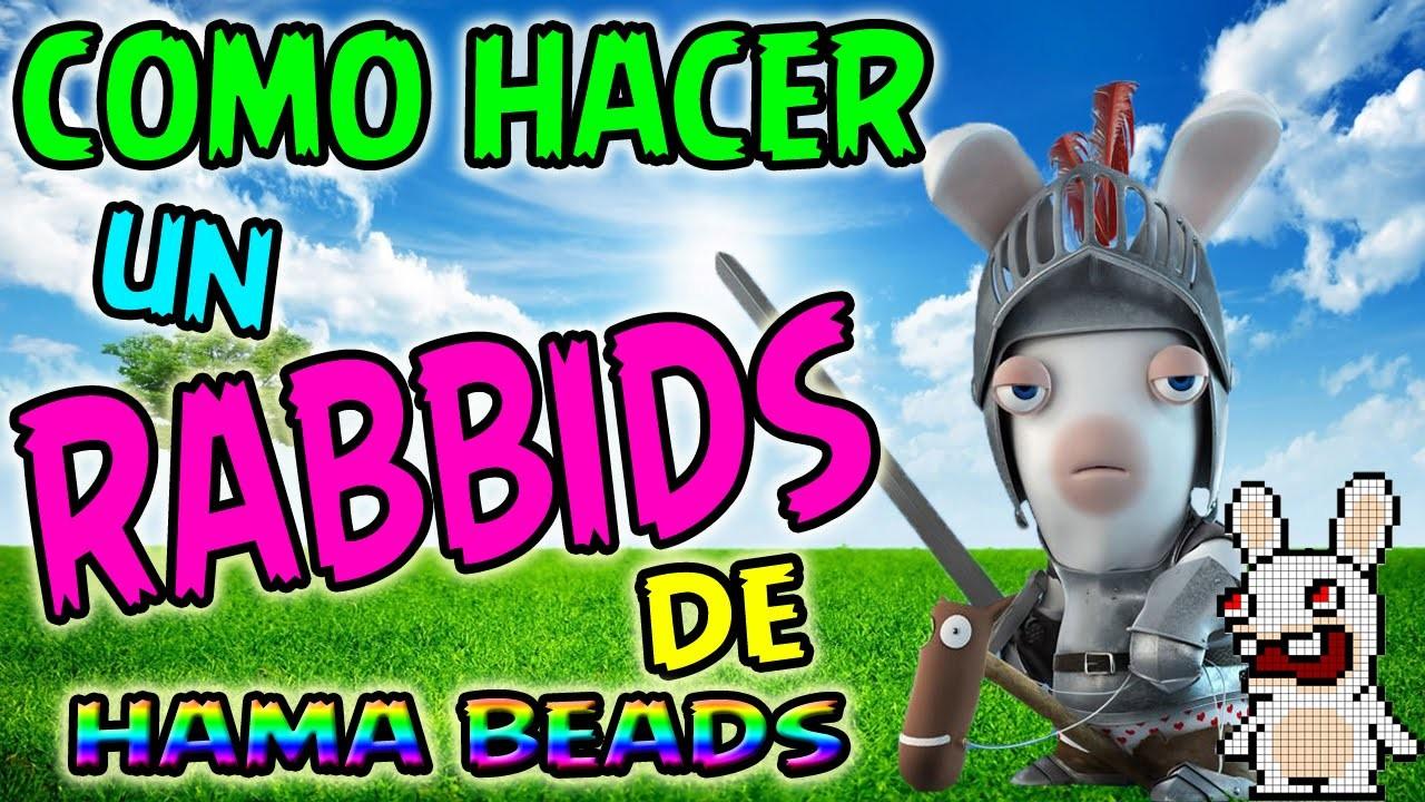 COMO HACER UN RABBIDS DE HAMA BEADS - Rayman Raving Pixel Art