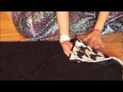 Como hacer una cobija sin coser Tutorial. DIY