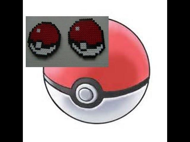Como hacer una poké ball de Hama Beads