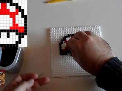 Cómo hacer una Seta de Super Mario con Hama Beads