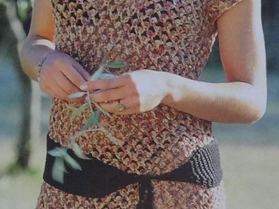 Como hacer vestido fácil tejido a crochet