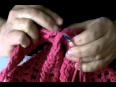 Como tejer una blusa al crochet III