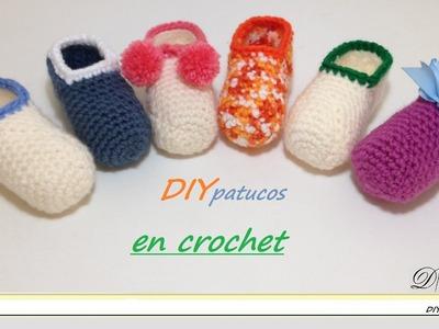 Cómo tejer zapatitos o patucos de bebé en crochet