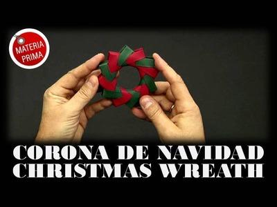 Corona de Navidad en Origami
