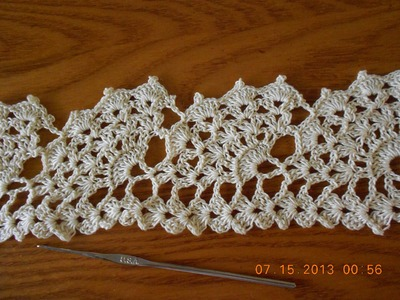 Crochet Orilla Abanicos Grandes