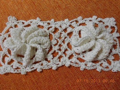 Crochet Una Flor en  Cuadro
