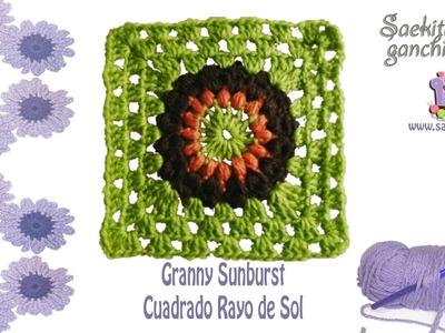 Cuadrado Rayo de Sol * Granny Sunburst * Saekita Ganchillo