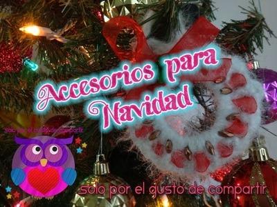 (DIY) Accesorios para Navidad (Crochet & Reciclaje).Adorno Navideño