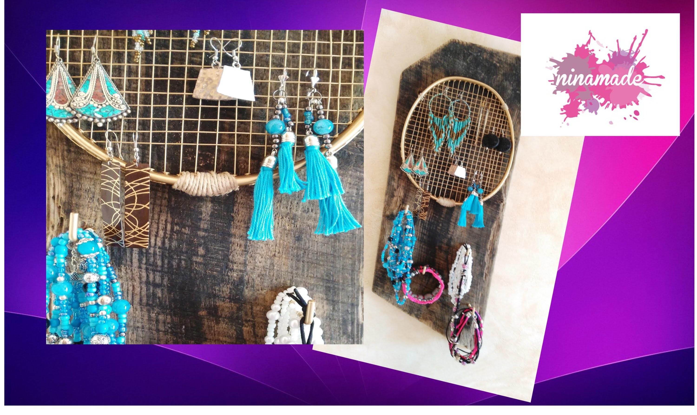 DIY.Organizador de pendientes reciclado. Recycled earrings Organizer