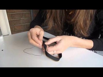 DIY Pulsera rockera con cremallera