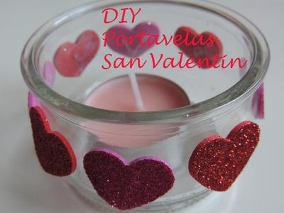 DIY. Tutorial como hacer un porta velas para San Valentin. Reciclaje