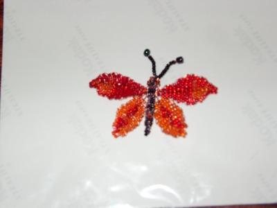 DIY Tutorial de mariposa grande de chaquiras. mostacillas 2 de 3