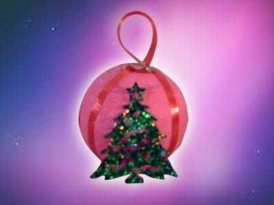 DIY Tutorial de una sencillísima esfera navideña