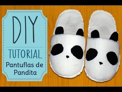 [DIY] Tutorial - Pantuflas de Pandita.Panda Slippers
