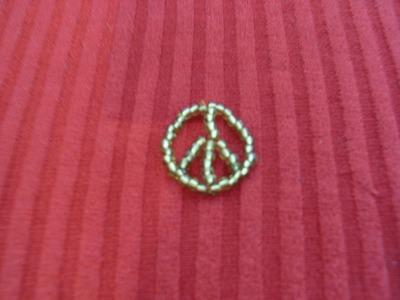 DIY Tutorial símbolo de la paz en chaquiras o mostacillas