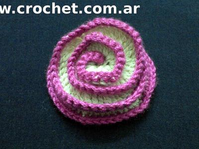 Flor N° 17 en tejido crochet tutorial paso a paso.