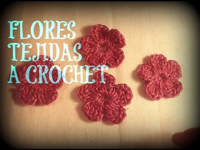 Flor tejida a crochet. How to crochet a flower♥