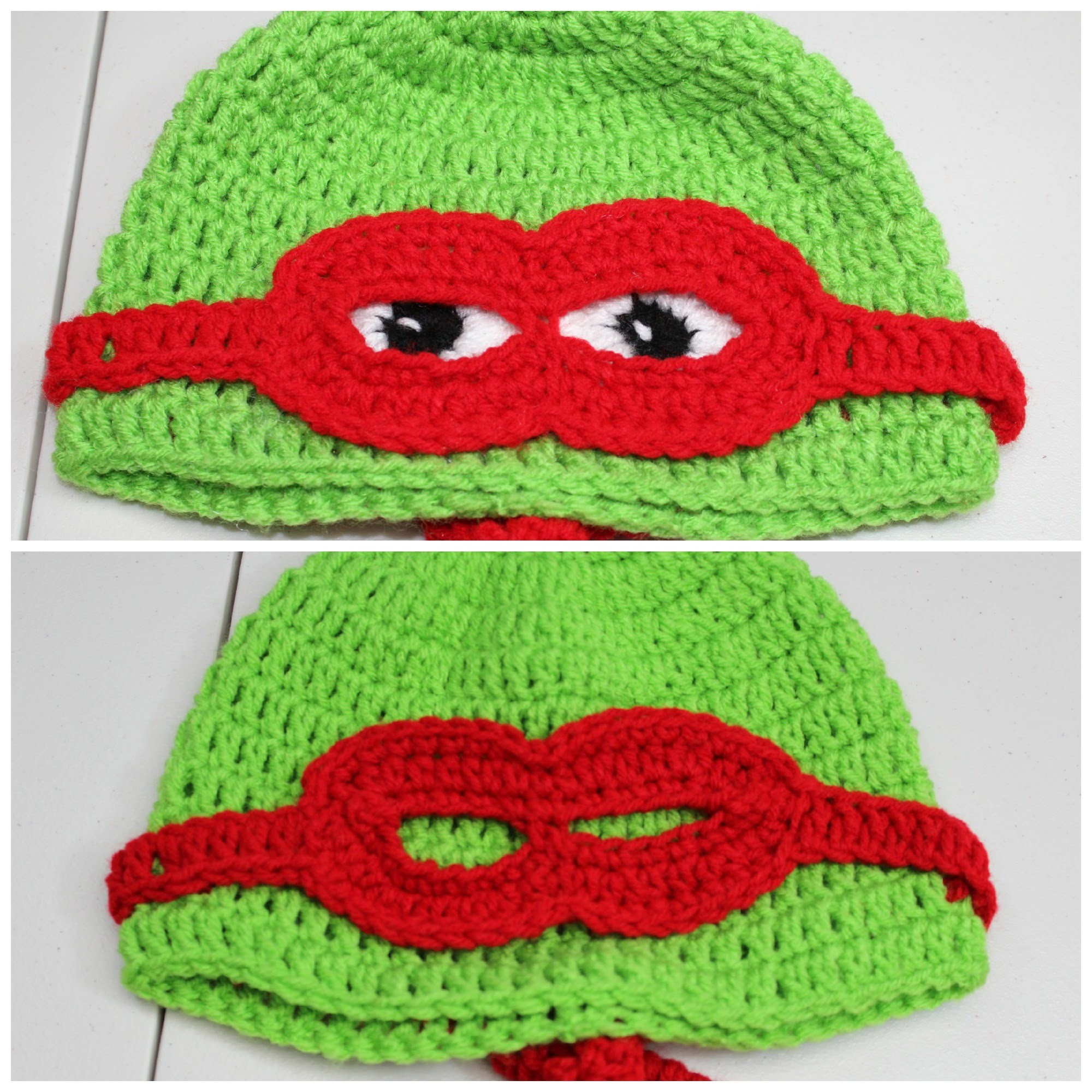 Gorro de tortuga con mascara  en #Crochet - video 1