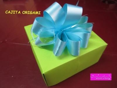 MANUALIDADES:CAJITA DE PAPEL (Origami)
