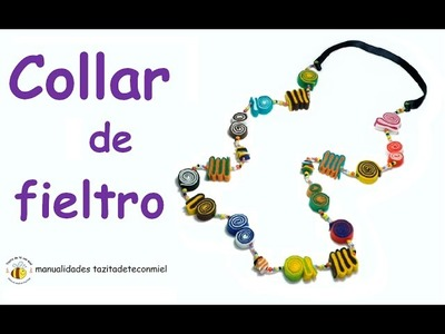 Manualidades: collar de fieltro. Crafts Felt collar
