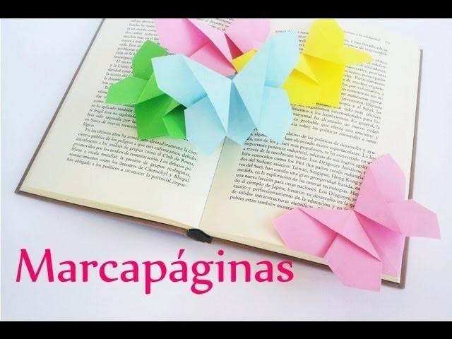 Manualidades: MARCAPÁGINAS de papel (MARIPOSA Origami) - Innova Manualidades