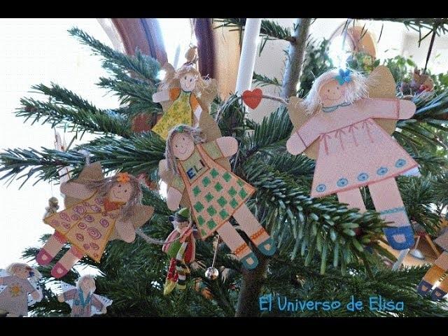 Manualidades para Navidad, Hadas para el Árbol de Navidad, Fairy Christmas crafts