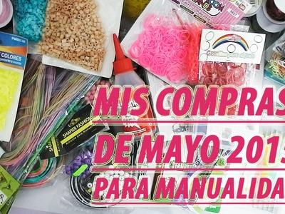 Mis compras para manualidades de mayo, gomitas, hama beads, hilos, papelería. . .