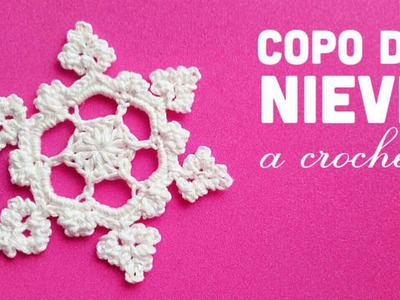 NAVIDAD | Copo de Nieve a Crochet - Paso a Paso