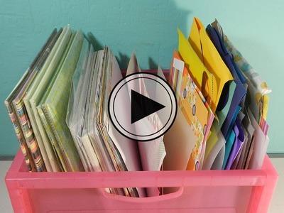 Organiza papel y restos de papel de SCRAPBOOK