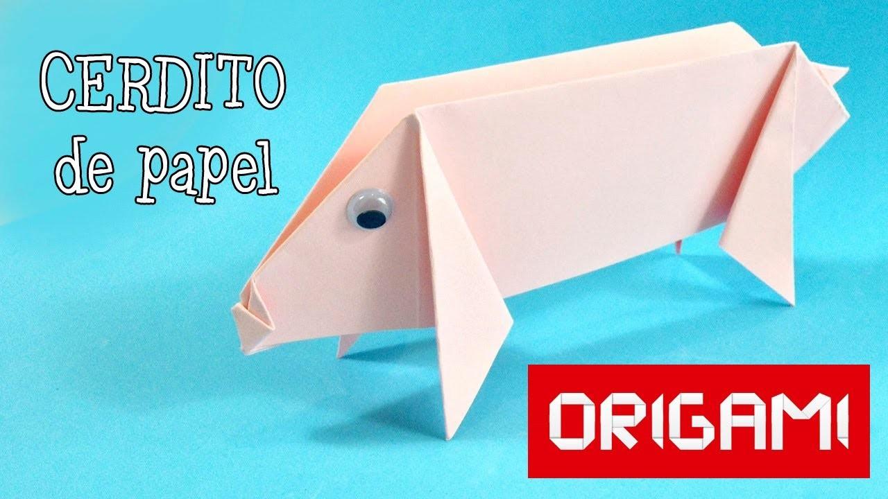 Origami: cerdito de papel | Manualidades Infantiles