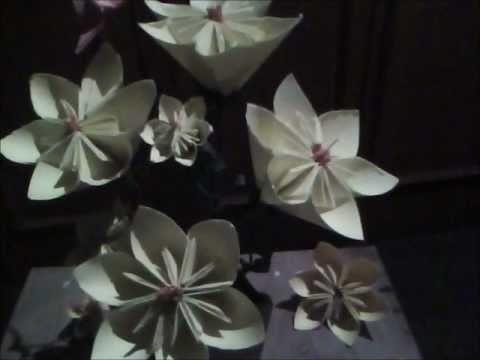 Origami explicado en español  Flor margarita