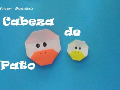 Origami - Papiroflexia. Cabeza de pato, muy fácil