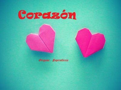 Origami - Papiroflexia. Corazón, San Valentín. muy fácil y rápido