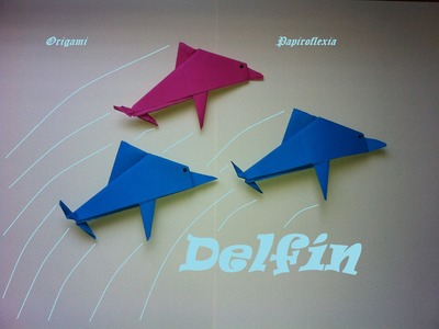 Origami - Papiroflexia. Delfín. Dolphin.