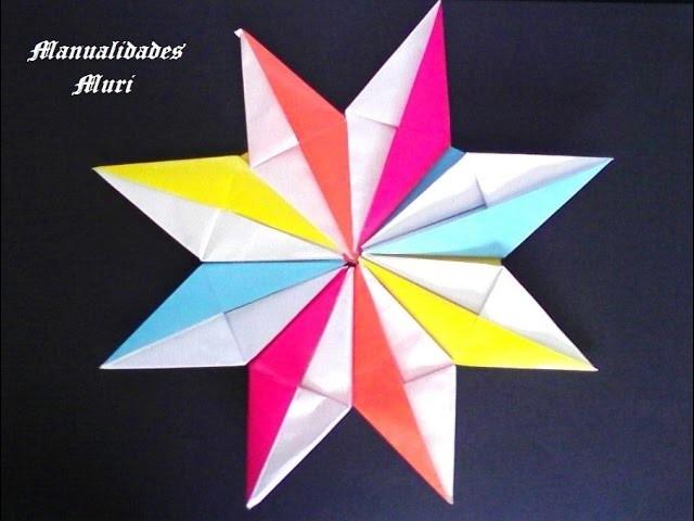 Origami - Papiroflexia. Estrella por piezas, muy sencilla